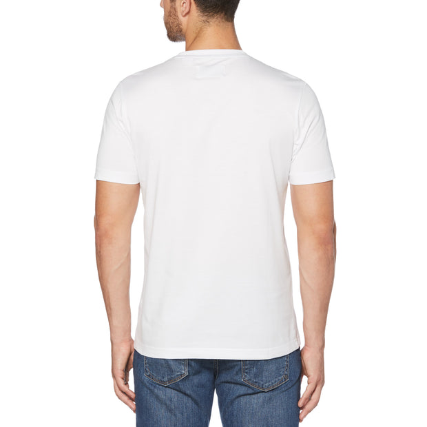 PIN POINT T-SHIRT IN BRIGHT WHITE