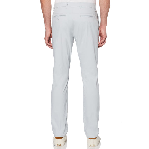 Herringbone Golf Trousers In Pearl Blue