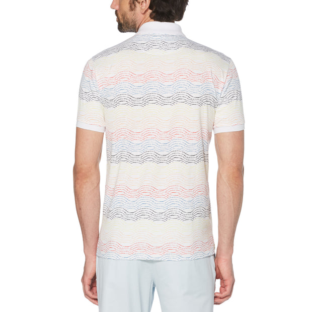 Multi Wave Polo Shirt In Bright White