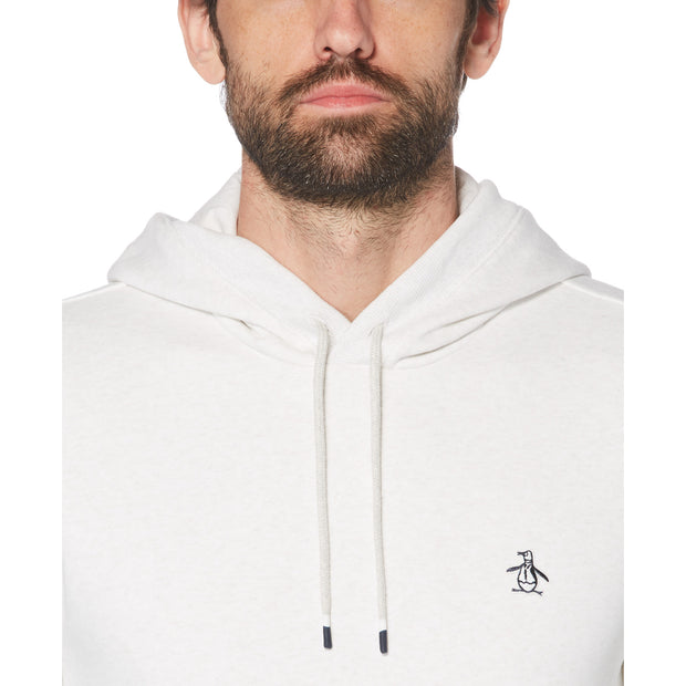 Sticker Pete Fleece Pullover Hoodie In Light Grey Melange