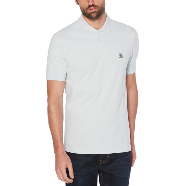 Raised Rib Polo Shirt In Ballad Blue