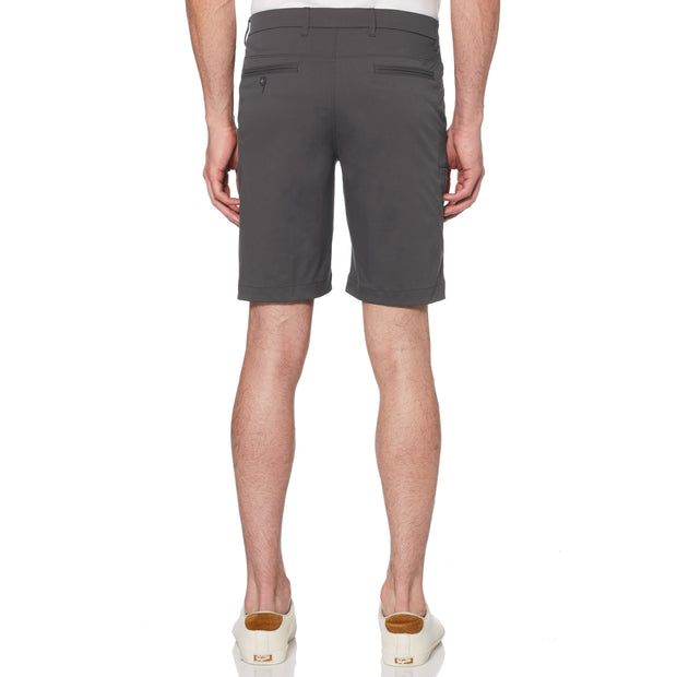 Herringbone Golf Shorts In Caviar