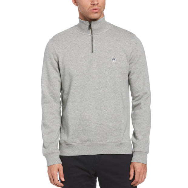 Quarter Zip Fleece In Rain Heather