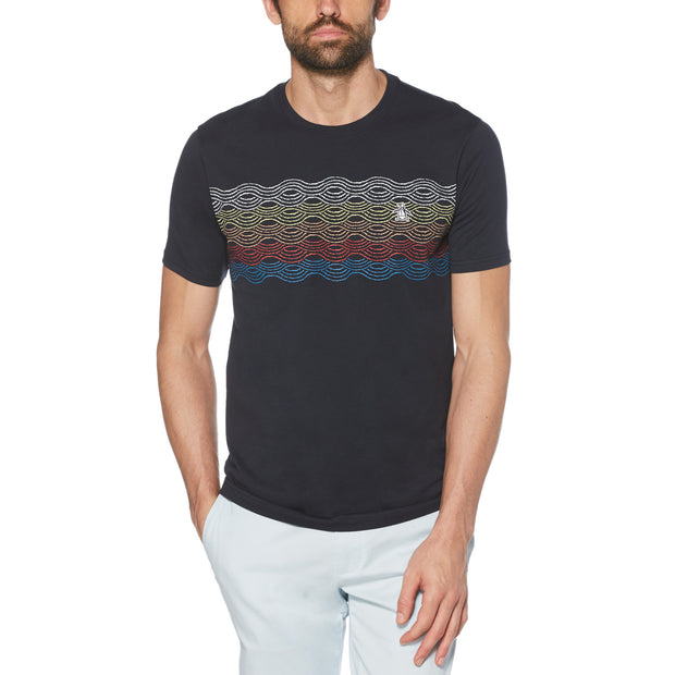 Multi Wave T-Shirt In Dark Sapphire