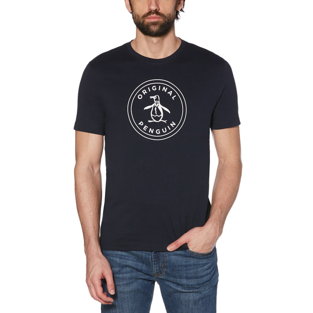 Stamp Circle Logo T-Shirt In Dark Sapphire