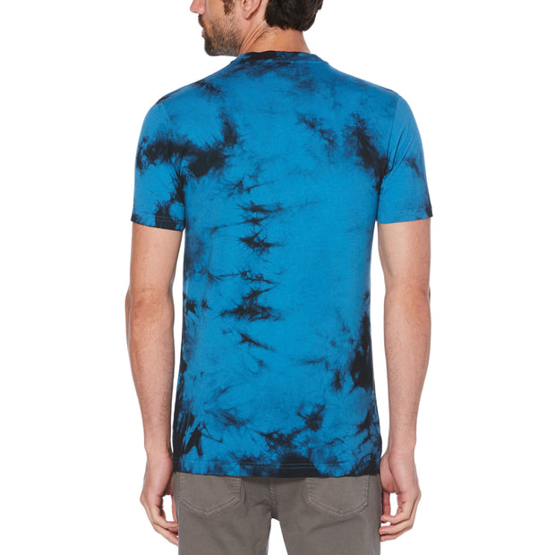 Tie Dye Stamp Logo T-Shirt In Deep Water