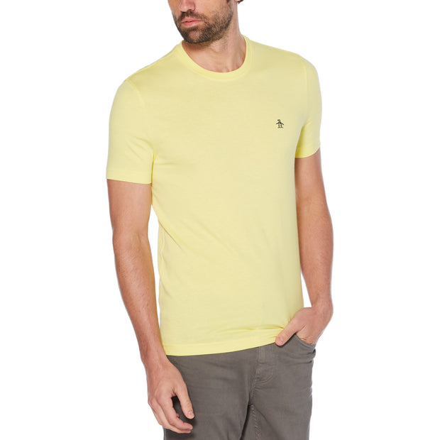 Pin Point Embroidery T-Shirt In Limelight