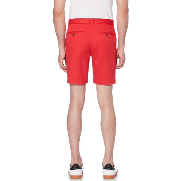 STRETCH LOGO SLIM FIT SHORTS IN LIPSTICK RED