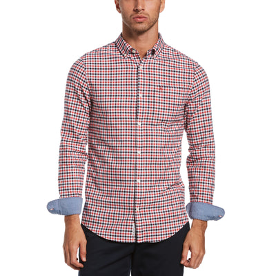 Gingham Oxford Shirt In Cardinal