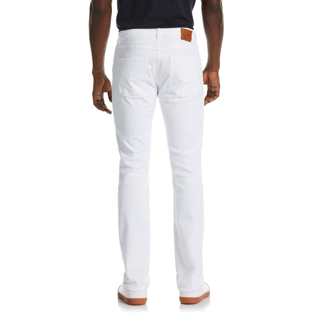 Colored Slim Fit 5-Pocket Denim Pant In Bright White