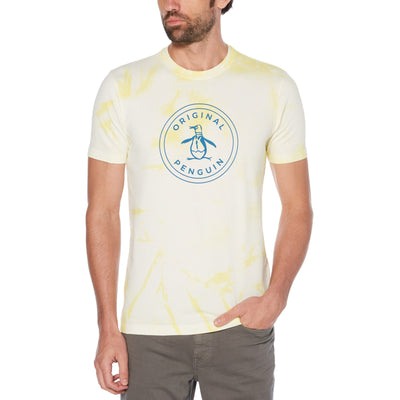 Tie Dye Stamp Logo T-Shirt In Limelight
