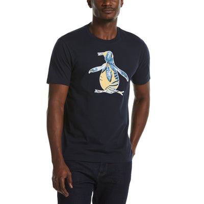 Palm Pete Filled Tee In Dark Sapphire