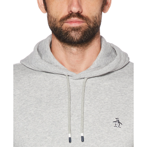 STICKER PETE FLEECE PULLOVER HOODIE IN RAIN HEATHER
