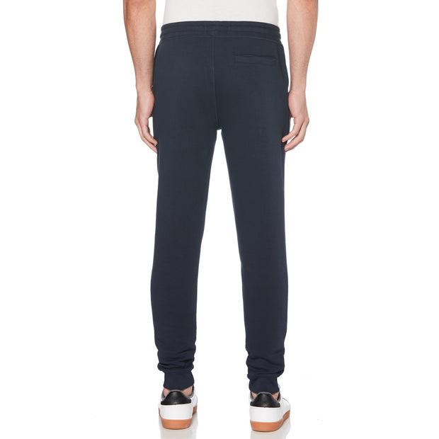 STICKER PETE FLEECE JOGGER IN DARK SAPPHIRE