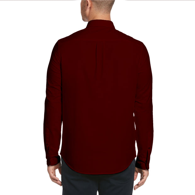 Solid Oxford Shirt In Tawny Port