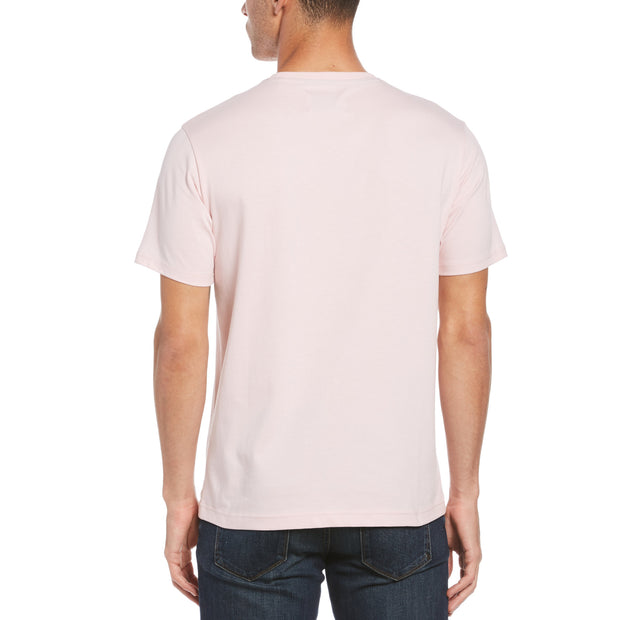 Pin Point Embroidred Logo T-Shirt In Parfait Pink