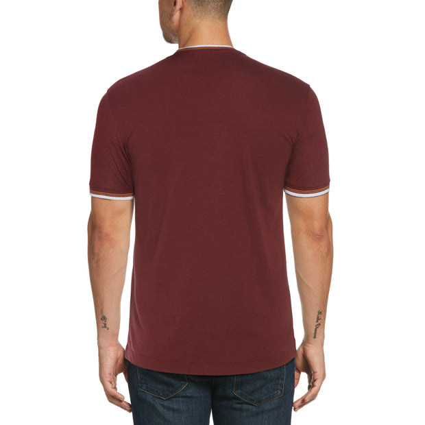 Sticker Pete Ringer T-Shirt In Tawny Port