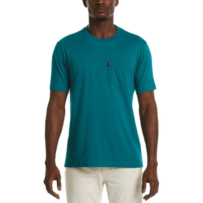 Jersey Pocket T-Shirt In Deep Lake