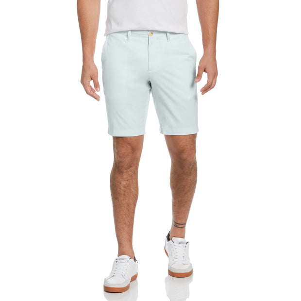 Micro Twill Slim Fit Shorts In Pastel Blue