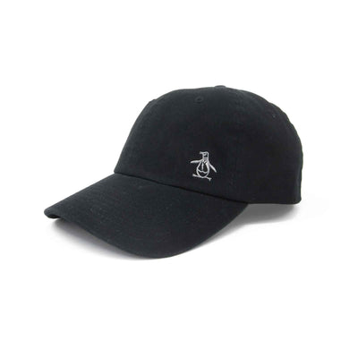 PENGUIN CAP IN TRUE BLACK