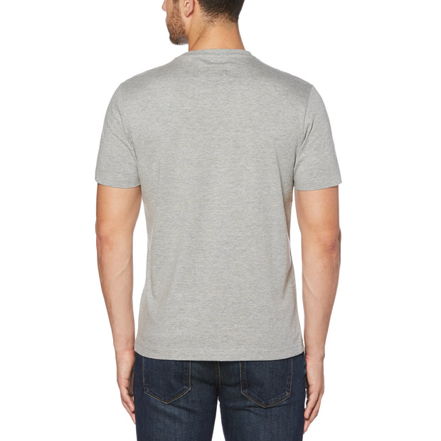 PIN POINT T-SHIRT IN RAIN HEATHER