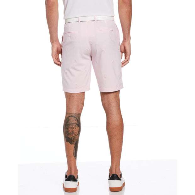 All Over Pete Embroidered Golf Short In Cherry Blossom