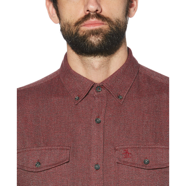JASPE FLANNEL SHIRT IN BIKING RED