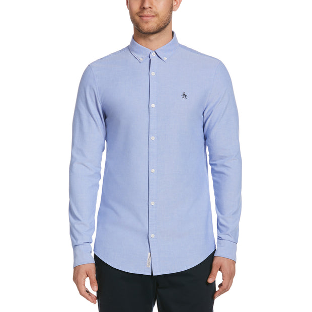 Oxford Slim Fit Shirt In Amparo Blue