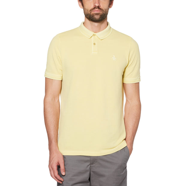 Garment Dye Polo Shirt In Pineapple Slice