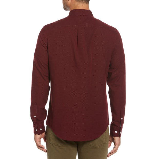 Mini Dobby Shirt In Tawny Port