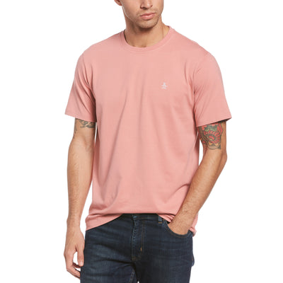 Pin Point Embroidred Logo T-Shirt In Dusty Rose