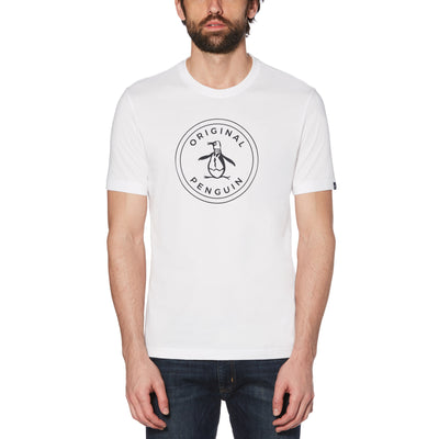 Stamp Circle Logo T-Shirt In Bright White