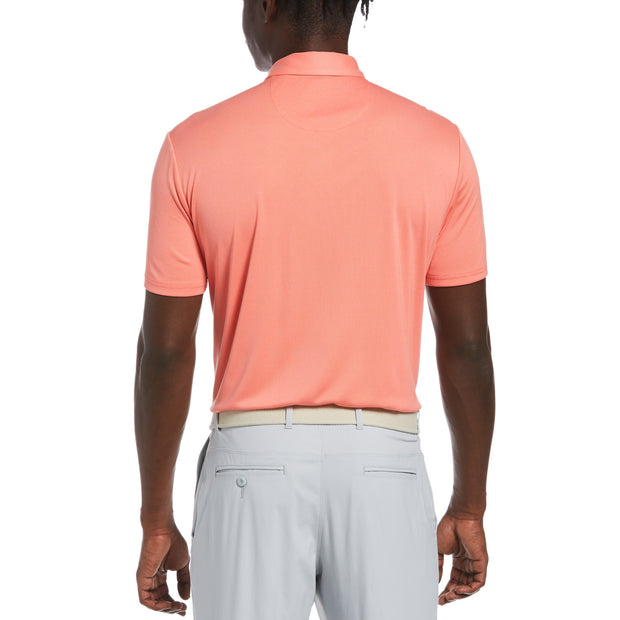 Birdseye Golf Polo In Hot Coral