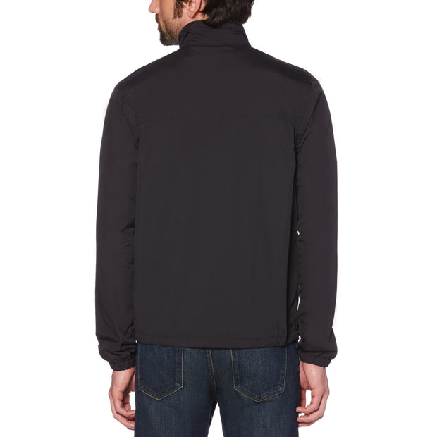 Sticker Pete Windcheater Jacket In True Black