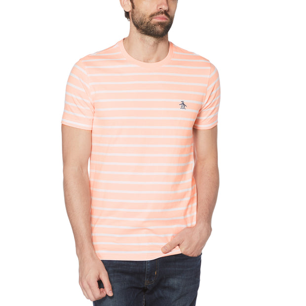 Breton Striped T-Shirt In Impatiens Pink