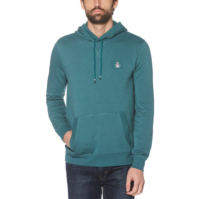 Sticker Pete Fleece Pullover Hoodie In Balsam