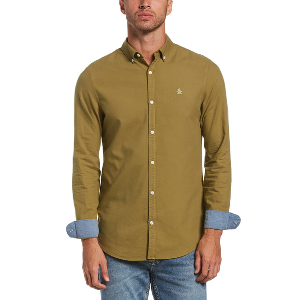 Solid Oxford Shirt In Olive Drab
