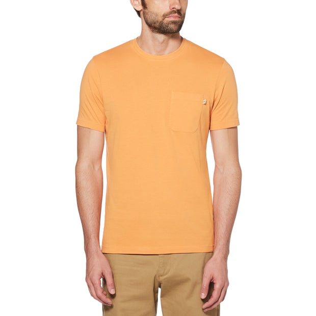PATCH POCKET T-SHIRT IN CADMIUM YELLOW