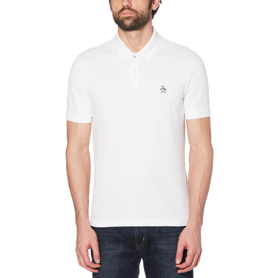 Raised Rib Polo Shirt In Bright White