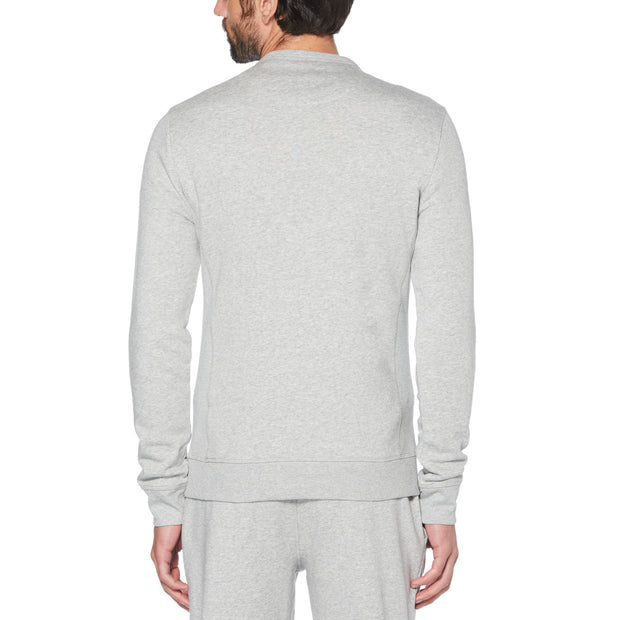 Sticker Pete Fleece Sweatshirt In Rain Heather