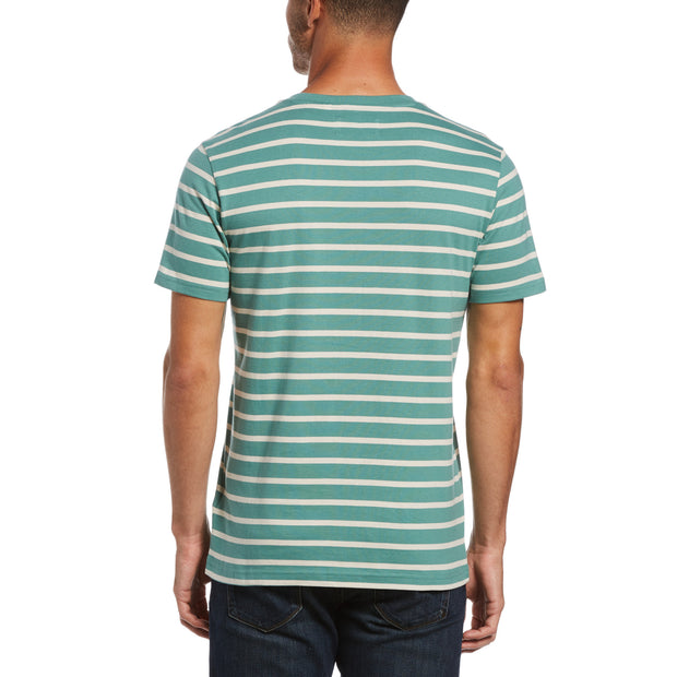 Breton Stripe T-Shirt In Oil Blue