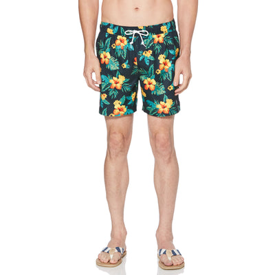 TROPICAL SWIM SHORTS IN DARK SAPPHIRE