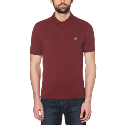 Raised Rib Polo Shirt In Tawny Port
