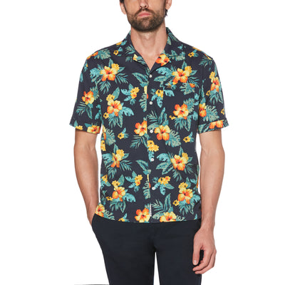 TROPICAL SHIRT IN DARK SAPPHIRE