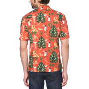 CHRISTMAS PRINT SHIRT IN ROCOCCO RED