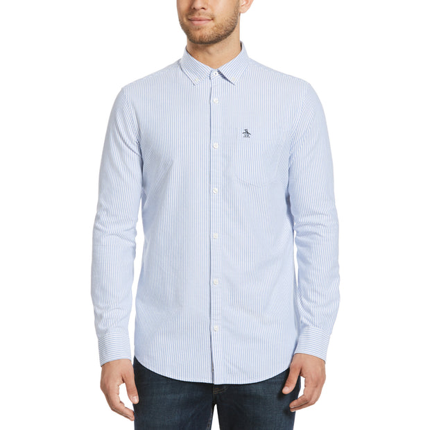 OXFORD STRIPE SHIRT IN AMPARO BLUE