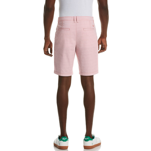 Feeder Stripe Slim Fit Shorts In Spiced Coral