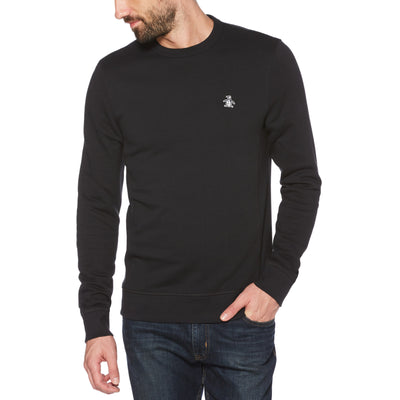 Sticker Pete Fleece Sweatshirt In True Black