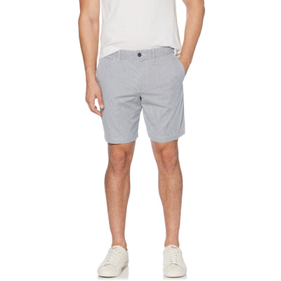Vertical Stripe Slim Fit Cord Shorts In Dark Sapphire