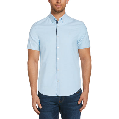 Short Sleeve Oxford Shirt In Dream Blue